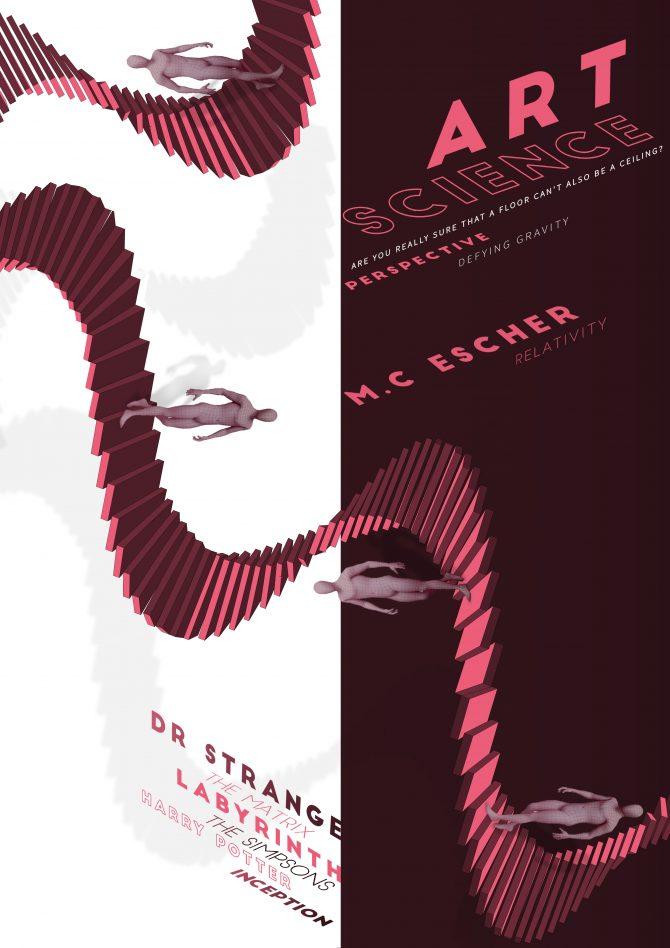 Optical Illusion Poster Design